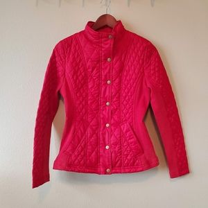 Merona red used quilted jacket.  Size S/P